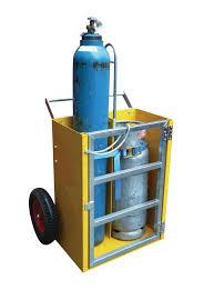 50 LT ve 10 LT Oksijen Tüpü Taşıma Arabası